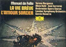 Manuel de Falla: La vida breve - El amor brujo   Berganza  Carreras  sealed box