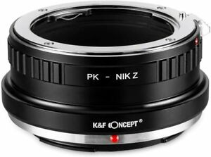 K&F Concept Lens Mount Adapter for Pentax PK Mount Lens to Nikon Z Mount  Camera
