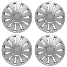 "15"" Volkswagen Golf Enjoliveurs Enjoliveurs Trim Cap couverture X 4 Silver Trim Set New"