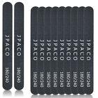 12 PCS Professional Black Nail Files (180/240 Grit Size) Emory Board for Salon