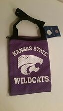 Kansas State Wildcats Zippered Game Day Pouch Bag University Logo Purple NCAA