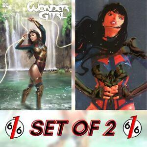 🚨🔥 WONDER GIRL #1 SET OF 2 CARLA COHEN & GRAMPA Limited Foil Variant NM