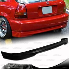 TR Style Polyurethane Rear Bumper Lip Wing For 1996-2000 Honda Civic Hatchback
