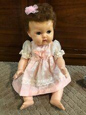 "Vintage Rock-a-Bye eyes American Character Tiny Tears Baby Doll, Vinyl 15"""