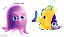 """2"""" Disney finding nemo fish octopus peel & stick wall border cut out character"""