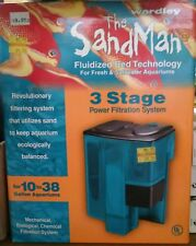 sandman aquarium filter 10 to 38 gal extension and cartridges ALL NEW