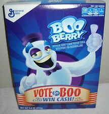 #9459 General Mills 2016 Boo Berry Cereal Vote for Boo 9.6 oz Full Box Expired