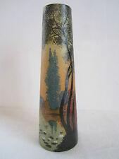 Vase dégagé à l'acide, décor lacustre, signé Legras 2/2