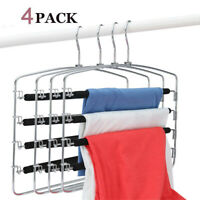 Stainless Steel Nonslip Foam Padded Swing Arm Space Saving Clothes Hanger 4 Pack