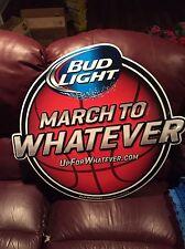 Bud Light Beer NCAA Basketball March Madness Tin Bar Sign
