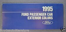 1995 Ford Paint Chip Colors Brochure Mustang Thunderbird Crown Victoria Taurus