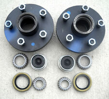 2- 5x4.5 Idler Hubs with 3500# Bearing Kits Replace Trailer Axle fit Dexter ALKO