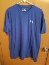 Under Armour Men's Short Sleeve Shirt Loose Fit Blue Size Xl