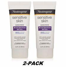 2PK-SALE Neutrogena Sensitive Skin Sunscreen Lotion SPF60 3oz  EX2019 PureScreen