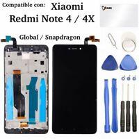 Pantalla LCD Táctil Xiaomi Redmi Note 4X 4 MARCO GLOBAL Snapdragon Tactil NEGRA