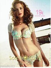 PUBLICITE ADVERTISING  016  2009  Soleil Sucré  soutien gorge by Elisa