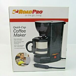 Road Pro Quick-Cup Coffee Maker Car RV Truck Brewing Machine NEW Model RPSC784