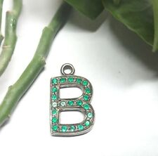 Natural Colombian Emerald Gemstone Charms Green Stone 925 Sliver Pendant 30X20mm