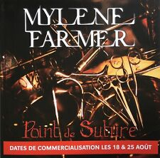 "Plaquette promo - Mylene Farmer - "" Point de suture """
