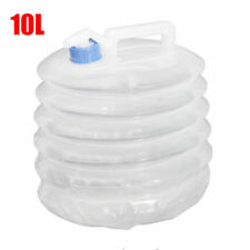 10L Collapsible Folding Water Container Bucket Carrier Tap Storage Camping Safe