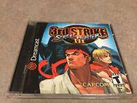 Street Fighter III: 3rd Strike (Sega Dreamcast, 2000) Complete. RARE