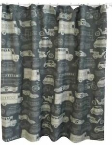 Shower Curtain Trucks Bikes Cars Gray Khaki Transportation Pillowfort Boys Boy