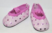 """Fits American Girl Doll Our Generation 18"""" Dolls Clothes Shoes Mauve Sequin"""