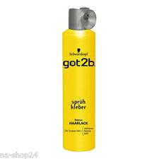 300ml Schwarzkopf got2b Haarspray Sprühkleber Haarlack freeze Styling extremer