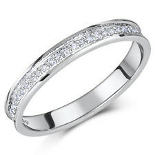 9ct White Gold Ring Channel Set Diamond Half Eternity 0.15ct Ring 'SALE'