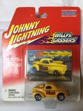 Johnny Lightning 41 1941 Willys Gassers Steve Castelli Yellow Die cast 1/64