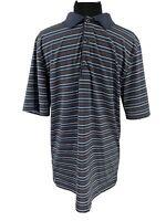 Greg Norman Short Sleeve Golf Polo Shirt Mens Size XL Striped ML75 Stretch