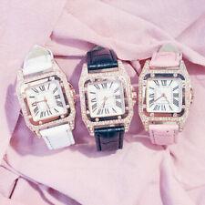 Women Girl New Fashion Roman Numerals Leather Band Analog Quartz Wrist Watch