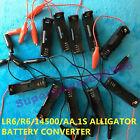 plastic alligator convertor holder for 1X 1.5V AA R6 LR6 14500 3.6V 3.2V battery