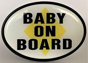 Baby on Board Trailer Hitch Cover 4 Wheel Truck Tow RV ATV Car Plastic