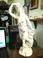 Antique  Metal Sculpture of LA TEMPETE By Emile Bruchon 19 .5 inches