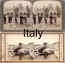 18 STEREOFOTOS ITALIEN ITALY ROM VENICE NAPLES FLORENZ Lot 7