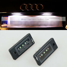 2x Error free LED Cree License Plate Light For Audi A3 A4 B6 B7 A6 A8 Q7 RS4 RS6