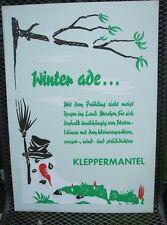 Original Plakat Entwurf von Fehling Klepper , Mäntel, Boot, Zelt         ( 15 )