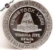 $1 PROOF-LIKE SLOT TOKEN DELTA SALOON CASINO 1966 FM MINT VIRGINIA CITY NEVADA