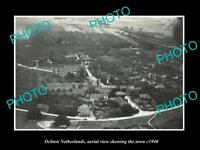 OLD LARGE HISTORIC PHOTO OCHTEN NETHERLANDS HOLLAND TOWN AERIAL VIEW c1940