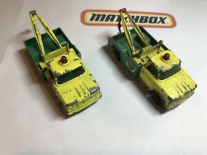 Matchbox Lesney: two variations of 13D Dodge Wreck Truck