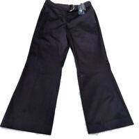 Jones New York Signature Petite Womens Stretch Cropped Pants Black Size 2P NWT