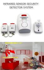Wireless PIR Motion Sensor Alarm With 2 Remote Controllers For Home Caravan Shed