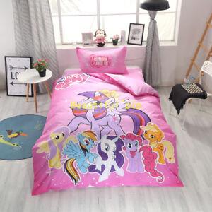 Single Size Quilt Doona Duvet Cover Set Pillow Case 100% Cotton My Little Pony