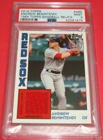 Andrew Benintendi 2019 Topps 1984 Topps Relic Card #84R-ABE Red Sox PSA MINT 9