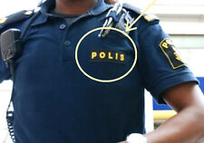 FANCY DRESS COSTUME as seen on GIRL PLAYED w/FIRE SWEDISH POLICE CHEST INSIGNIS