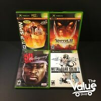 Microsoft Xbox Video Games Bundle Lot (4 Games) Unreal II, 50 Cent, & More