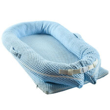 Baby 3d Nest Cot Crib Bed Sleeper Mattress Newborn Cushion Breathable Portable Blue