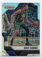 2016-17 Panini Prizm RUDY GOBERT Rare SILVER REFRACTOR PARALLEL #102 Utah Jazz