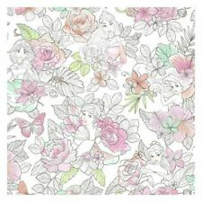 York DI0966 Wallpaper Disney Princess Royal Floral Unpasted Coral Wallcoverings